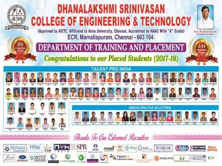 Dhanalakshmi Srinivasan COLLEGE OF ENGINEERING AND TECHNOLOGY
